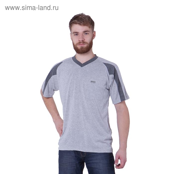 Футболка мужская, цвет серый меланж, размер M, супрем (арт. 302)