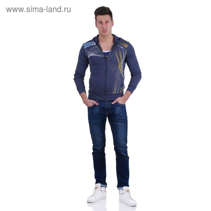 Куртка спортивная мужская, цвет МИКС, размер M, интерлок (арт. 514)
