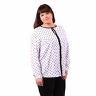 Блузка женская 51900307 цвет белый, р-р 56(4XL), рост 170
