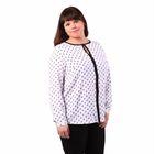 Блузка женская 51900307, цвет белый, размер 56(4XL), рост 170