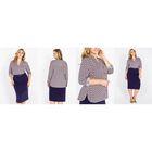 Блузка женская 51900368 цвет тёмно-синий, р-р 50(5XL), рост 170