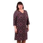 Платье женское 52000483, цвет бордовый, размер 50 (XL), рост 170
