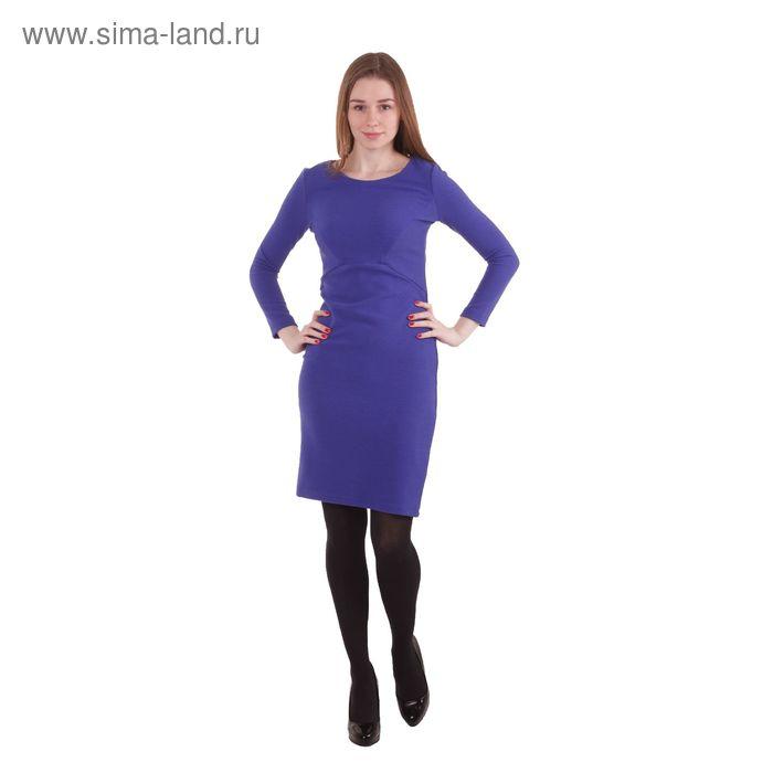 Платье женское 40200200072, размер 48 (L), рост 170 см, цвет синий