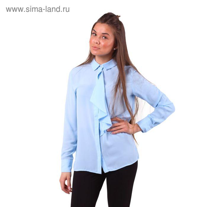 Блузка женская 10200260018, размер 44 (S), рост 170 см, цвет голубой