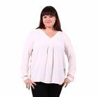 Блузка женская 51900370, цвет белый, размер 56(4XL), рост 170