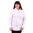 Блузка женская 51900366, цвет белый, размер 56(4XL), рост 170