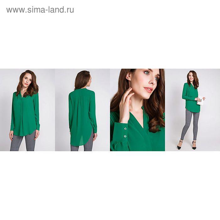 Блузка женская 40200260048, размер 42 (XS), рост 170 см, цвет зелёный