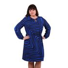 Платье женское 52000502, цвет индиго, размер 54 (3XL), рост 170