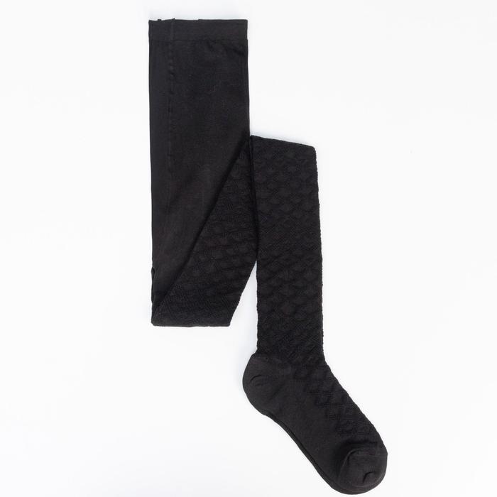 Колготки детские ажурные 2ФС73, цвет черный, рост 140-146 см