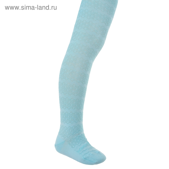 Колготки детские 2ФС73-007, цвет светло-бирюзовый, рост 116-122 см