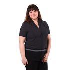 Блузка женская 51900344 цвет чёрный, р-р 50(XL), рост 170