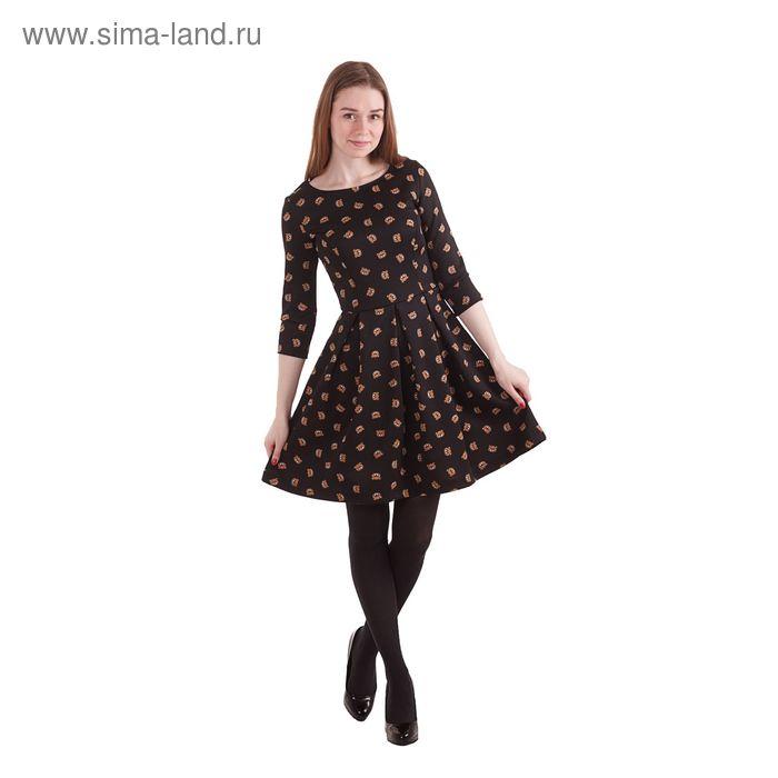 Платье женcкое, размер 50 (XL), рост 170 см, цвет чёрный (арт. 10200200022 С+)