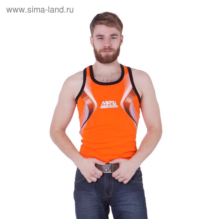 Майка мужская, цвет оранжевый, размер XL, стрейч (арт. 251-05)