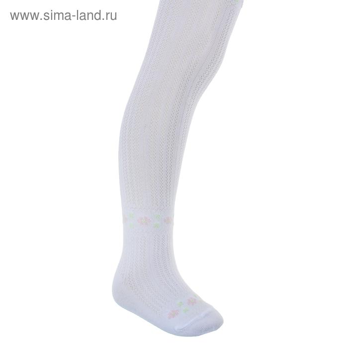 Колготки для девочки КДД13-2459, цвет белый, рост 110-116 см