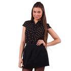 Блузка женская 10200270004, размер 40 (XXS), рост 170 см, цвет черный