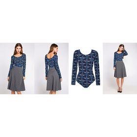 Блузка-боди женская 10200100010, размер 40 (XXS), рост 170 см, цвет МИКС Ош