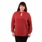 Блузка женская 51900365, цвет терракот, размер 52(XXL), рост 170