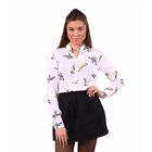 Блузка женская, размер 50 (XL), рост 170 см, цвет белый (арт. 40200260047 С+)