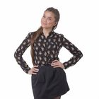 Блузка женская 40200260047, размер 40 (XXS), рост 170 см, цвет чёрный