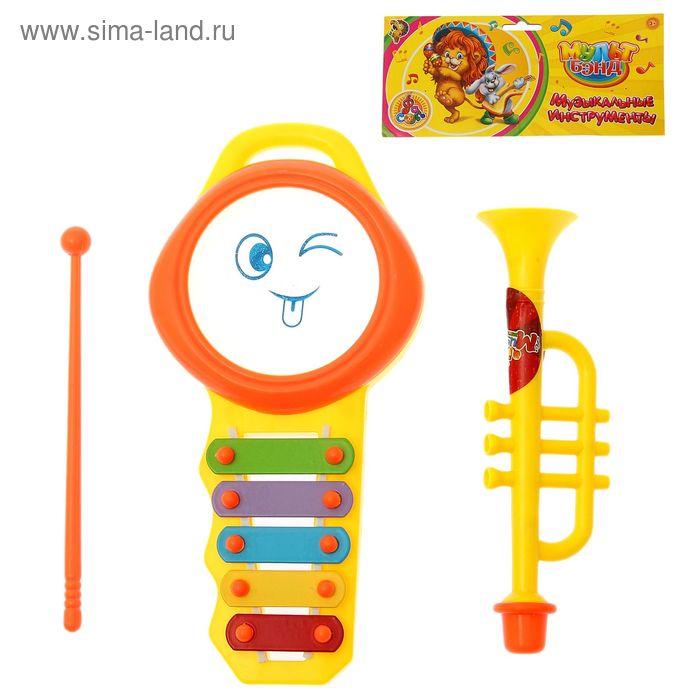 """Набор музыкальных инструментов """"Мульт Бэнд-3"""", 3 предмета"""