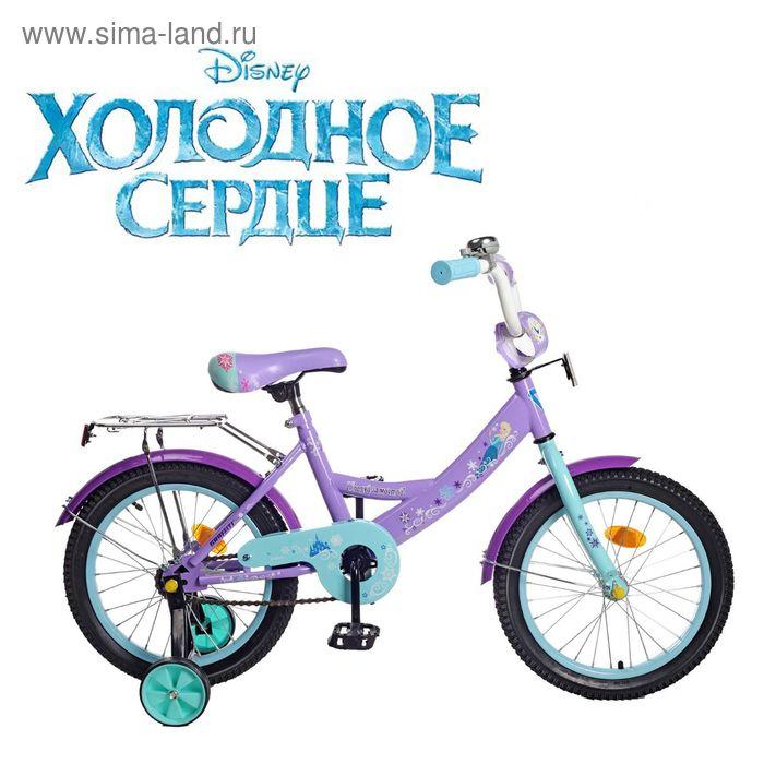 """Велосипед двухколесный 16"""" GRAFFITI """"ХОЛОДНОЕ СЕРДЦЕ"""", цвет: светло-фиолетовый"""