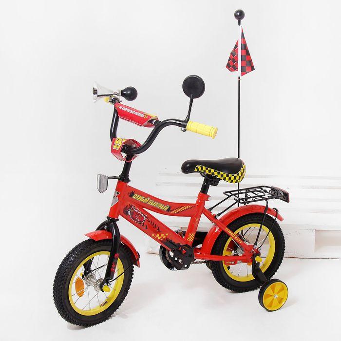 """Велосипед двухколесный 12"""" GRAFFITI """"ТАЧКИ"""", цвет: красный"""