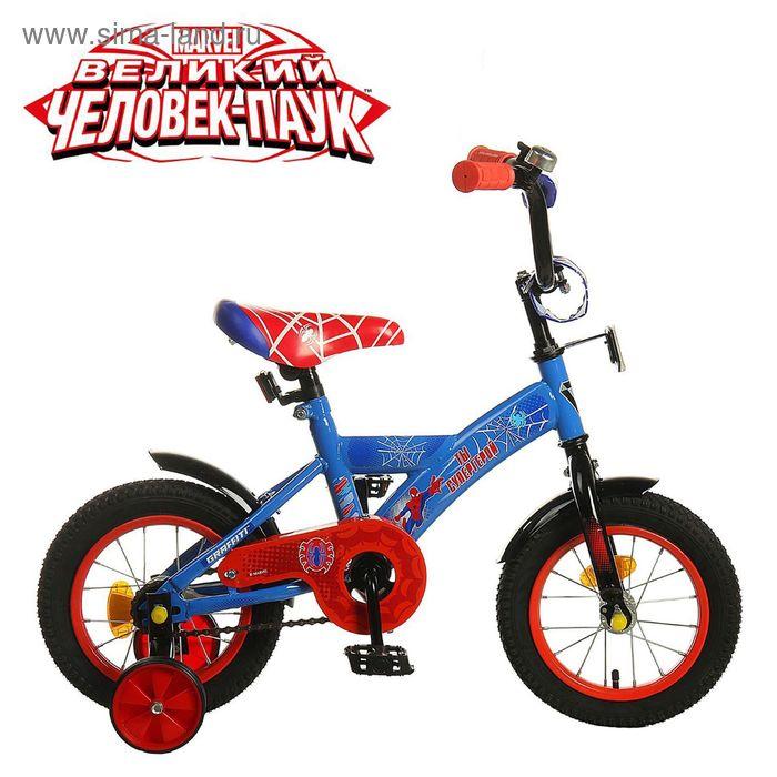 """Велосипед двухколесный 12"""" GRAFFITI """"ЧЕЛОВЕК ПАУК"""", цвет: синий"""