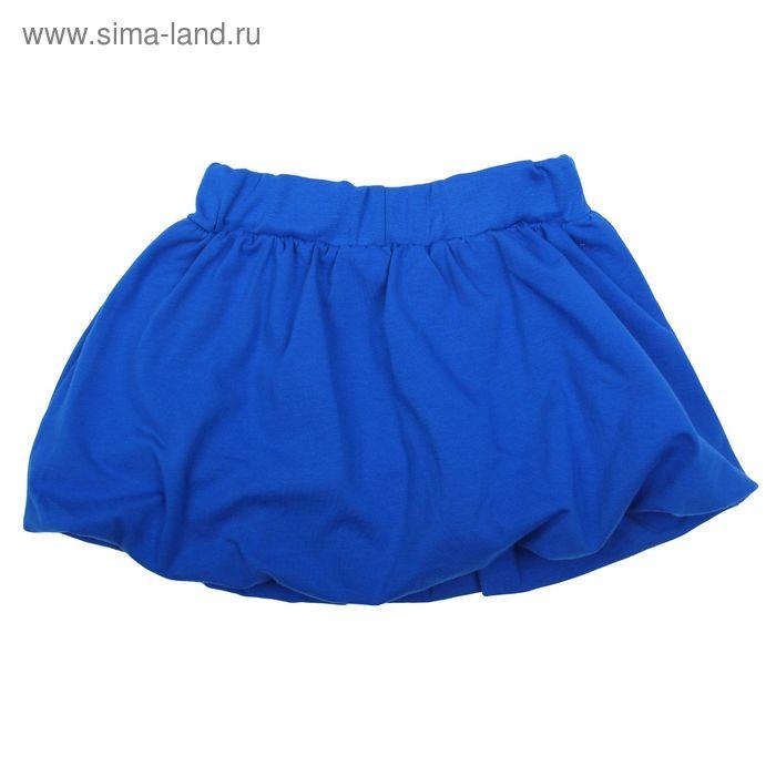 """Юбка для девочки """"Гжель"""", рост 104 см (54), цвет василек"""