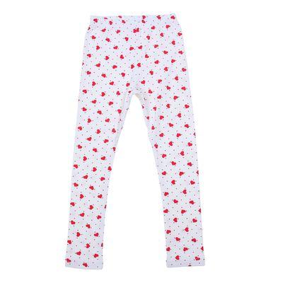 Легинсы для девочки, рост 110 см (56), цвет белый/красные сердечки ДРЛ894800н