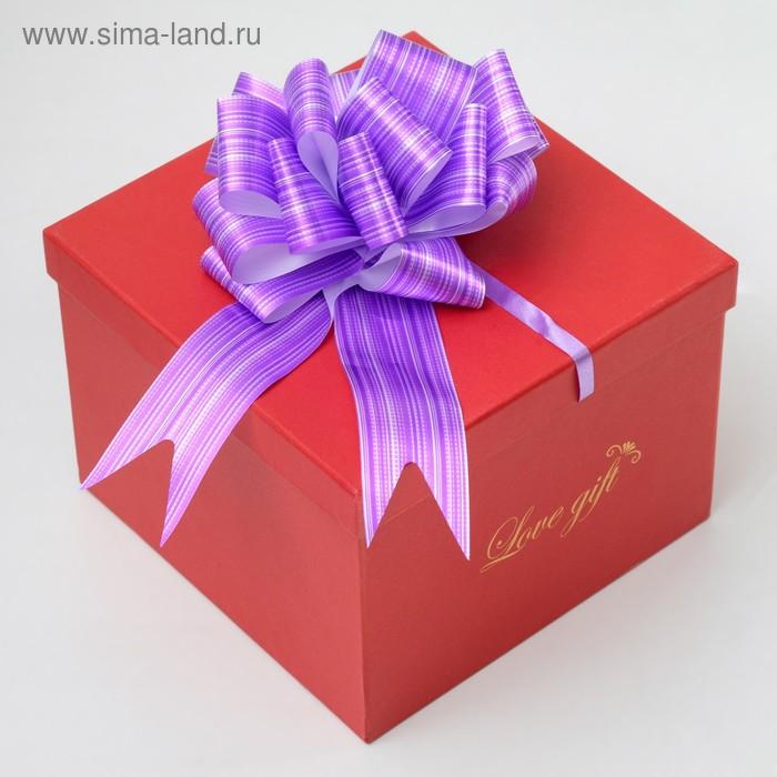 """Бант-шар №7 """"Тонкие полосы"""", цвет фиолетовый"""