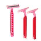Набор станков для бритья LuazON, с 3 лезвиями и увлажняющей полоской, розовый, 3 шт.