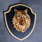 """Панно """"Голова волка"""" бронза, щит черный 40см"""