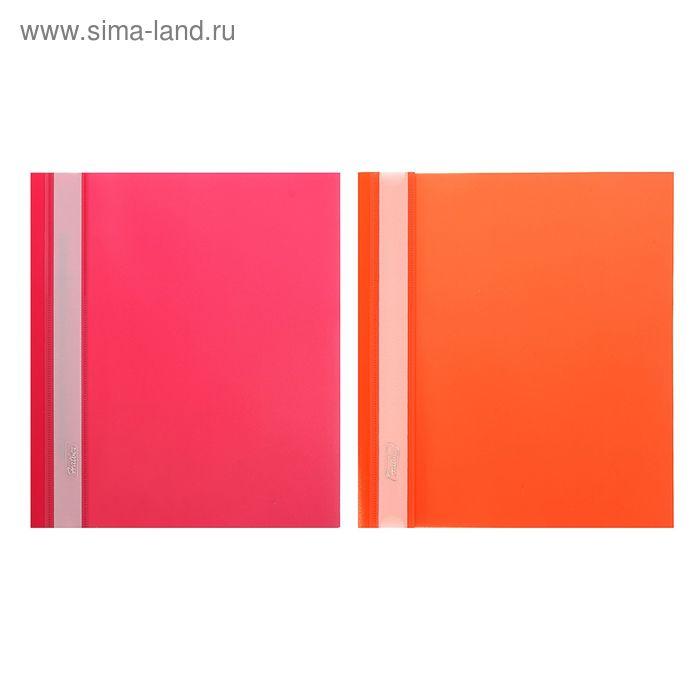 Папка-скоросшиватель А5, 140/180мкм, красная