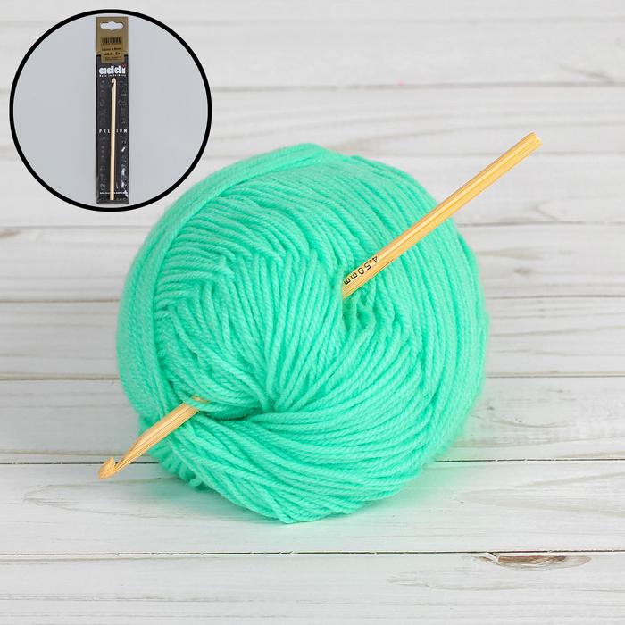 Крючок для вязания, бамбуковый, d = 4,5 мм, 15 см