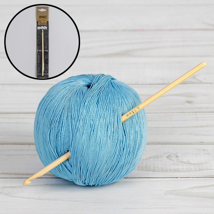 Крючок для вязания, бамбуковый, d = 3,75 мм, 15 см