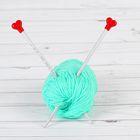 Спицы для вязания, прямые, наконечник, тефлоновое покрытие, d=5,5мм, 20см, 2шт