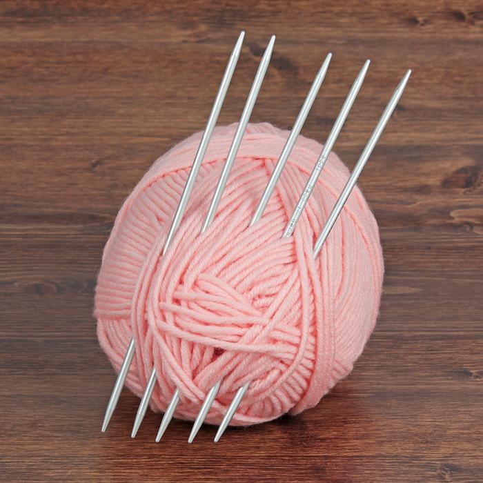спицы для вязания чулочные тефлоновое покрытие D4мм 20см 5шт в