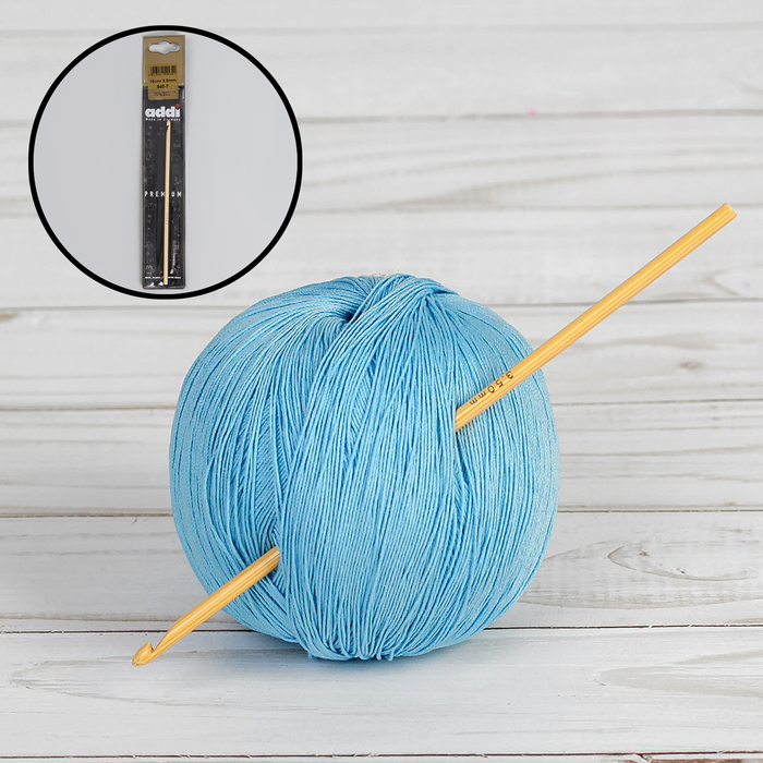 Крючок для вязания, бамбуковый, d = 3,5 мм, 15 см