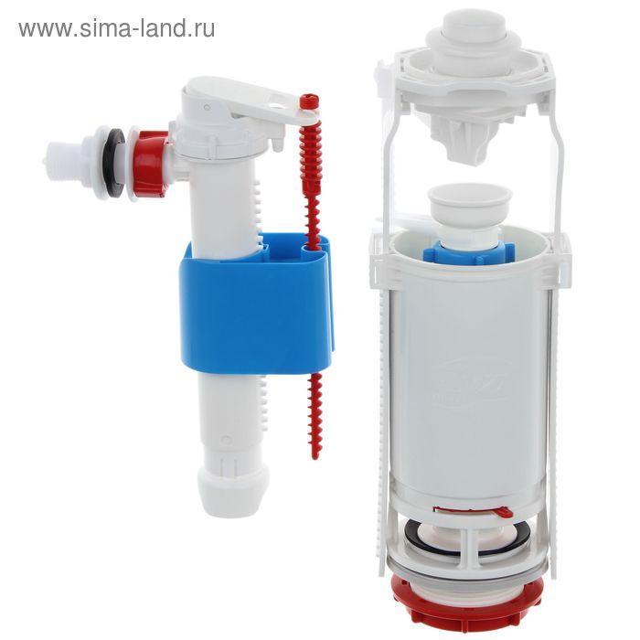 """Набор с боковой подводкой """"АНИ"""" 1/2"""" WC8010, пластиковый, белая кнопка"""