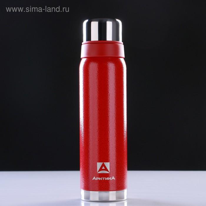 Термос бытовой, вакуумный, для напитков 900 мл, красный