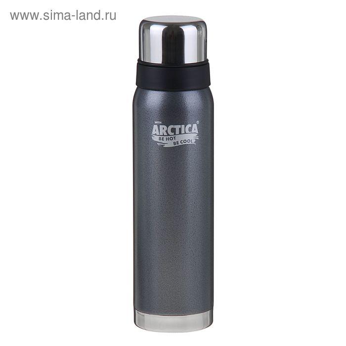 Термос бытовой, вакуумный, для напитков 900 мл, серый