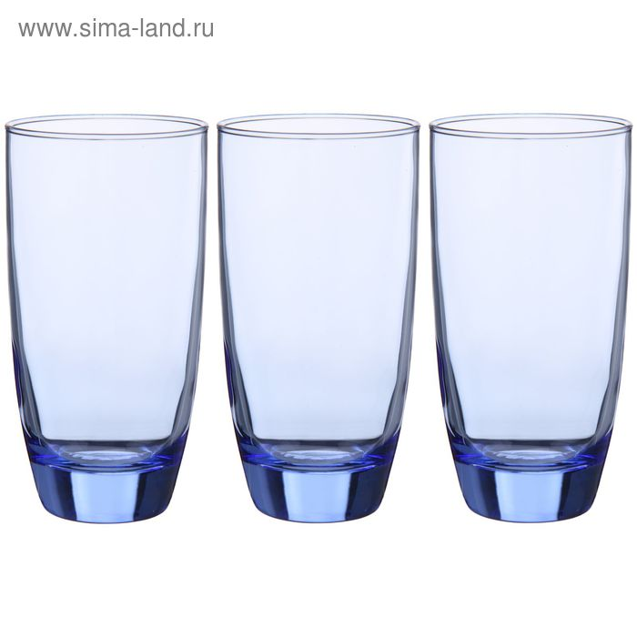 "Набор стаканов высоких 300 мл ""Лайт блю лагуна"", 3 шт"