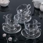 Набор чайный Basic, 12 предметов: 6 чашек 215 мл, 6 блюдец d=13,7 см - фото 308063828