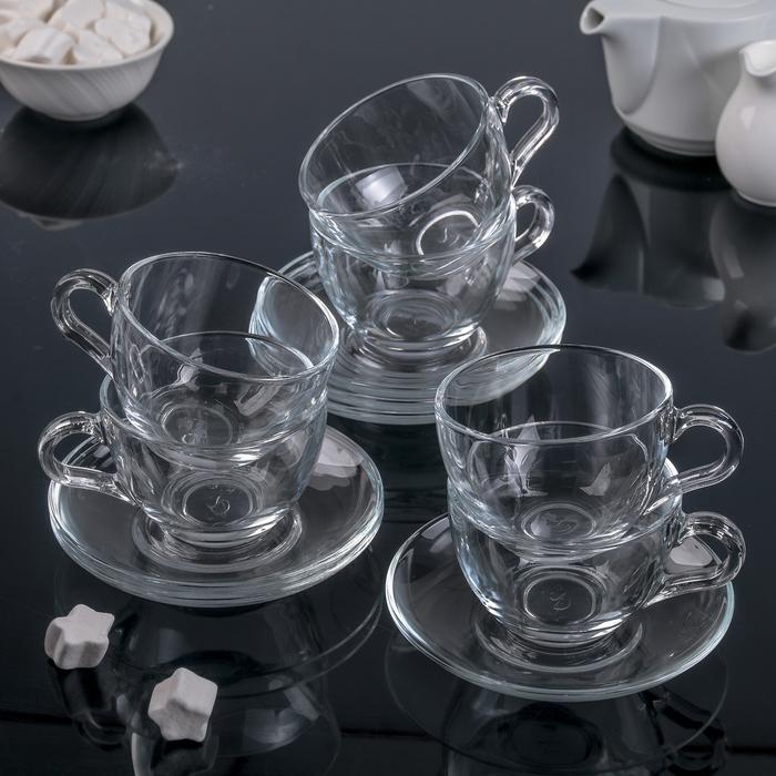 Набор чайный Basic, 12 предметов: 6 чашек 215 мл, 6 блюдец d=13,7 см