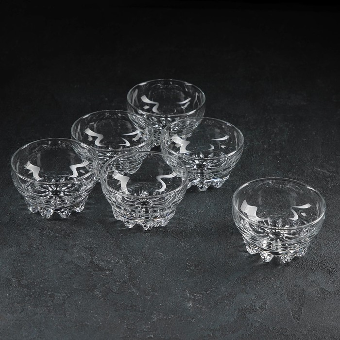 """Набор салатников 170 мл """"Сильвана"""", 10 см, 6 шт - фото 797696758"""