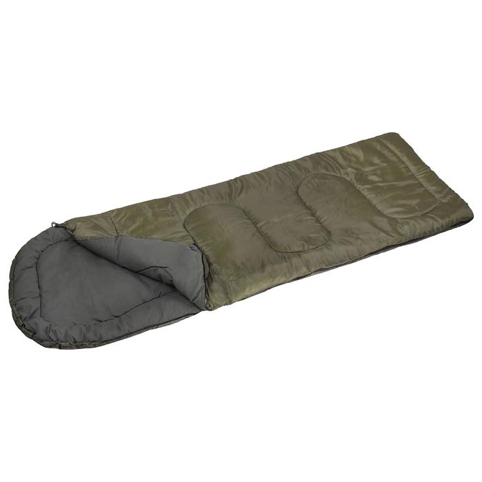Спальный мешок «СП3XL», размер 200+35х85 см, -5/+10 °С, цвет хаки