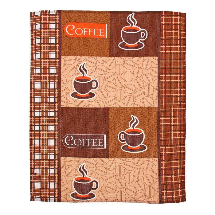 """Полотенце вафельное """"Collorista"""" Кофейный аромат  47*62±2, 100% хлопок,145 г/ м2"""