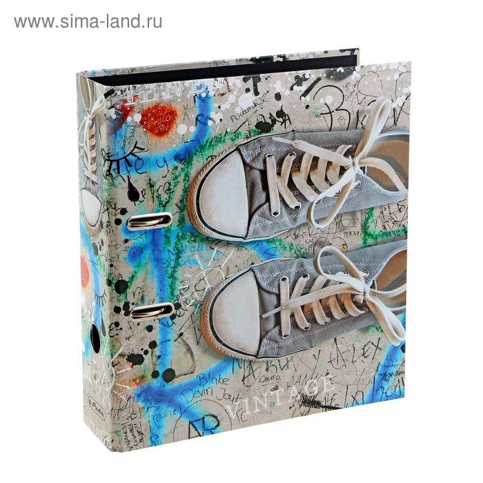 Папка-регистратор 80мм Herlitz Shoes, maX.file Vintage, ламинированный картон