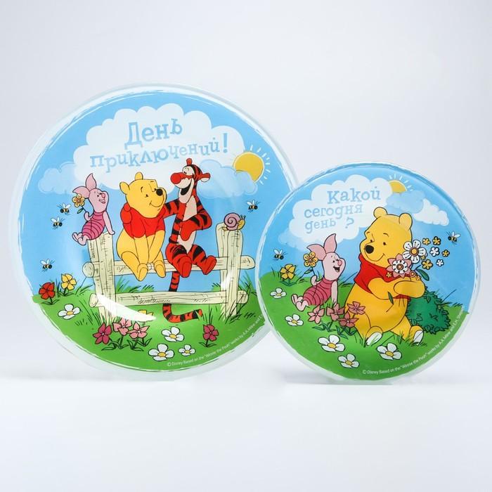 """Набор тарелок 2 шт. """"День приключений"""", d=15 см и d=20 см, Медвежонок Винни и его друзья"""