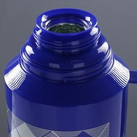"""Термос """"Клеточки"""" с 1 кружкой и 1 чашкой, 1.8 л, сохраняет тепло 10 ч, 15х33 см, микс - фото 1966380"""